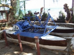 Запатентованный водный велосипед